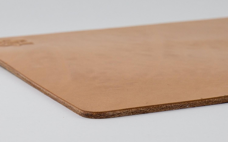 Braun Hamosons 26304 Hochwertiges Mousepad//Mauspad f/ürs Home-Office aus echtem Anilin-Leder